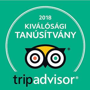 Avalon Resort & SPA - Trip Advisor Kiválósági Tanúsítvány 2018