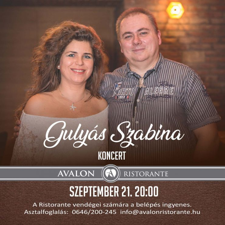 Avalon Resort & SPA - Gulyás Szabina koncert